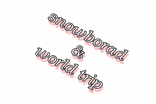 スノーボードと海外旅行のメディア
